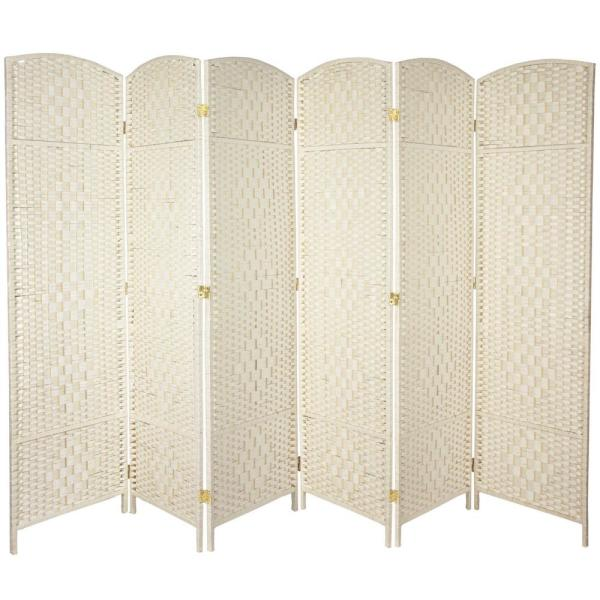 6 ft. White 6-Panel Room Divider