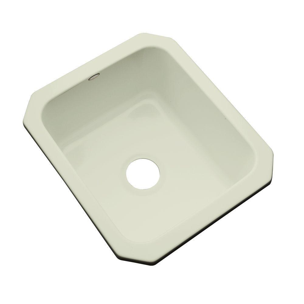 Crisfield Undermount Acrylic 17 in. Single Bowl Entertainment Sink in Jersey Cream