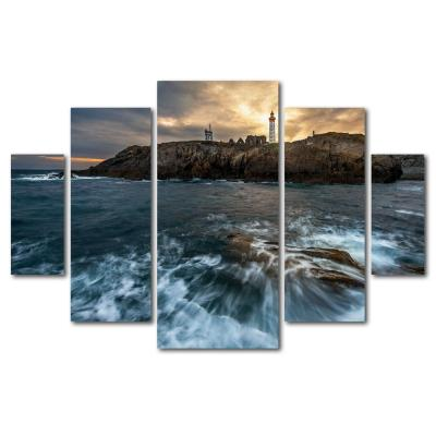 "40 in. x 58 in. ""The Lighthouse"" by Mathieu Rivrin Printed Canvas Wall Art"