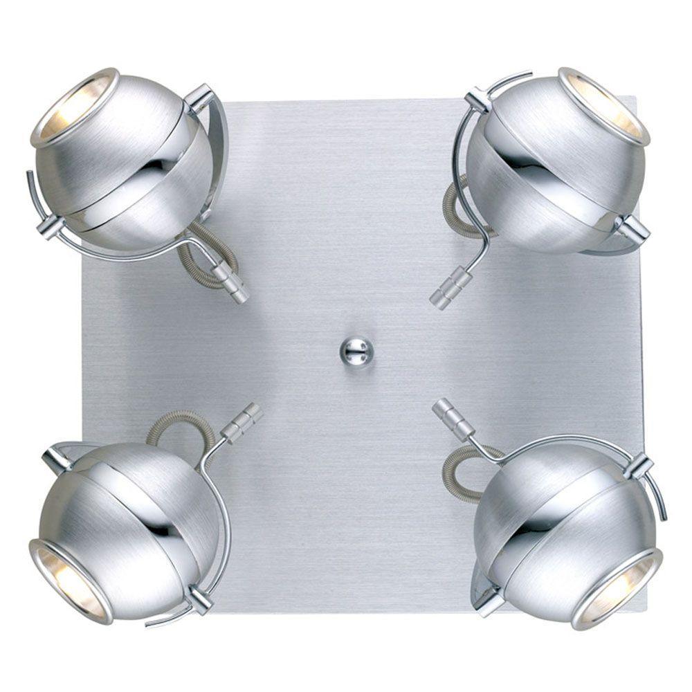 Eglo Sevo 4-Light Brushed Aluminum Wall/Ceiling Light