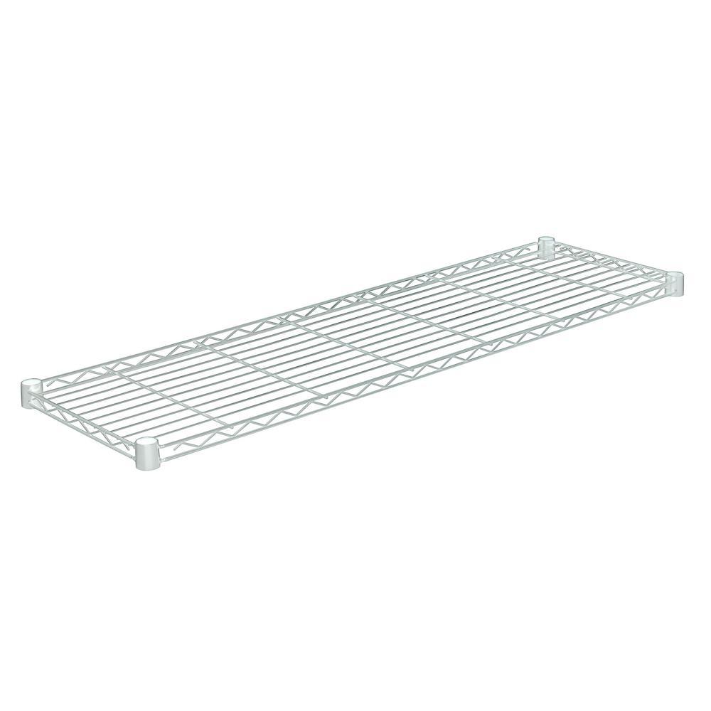 48 in. W x 14 in. D 350 lbs. Steel Shelf in Chrome