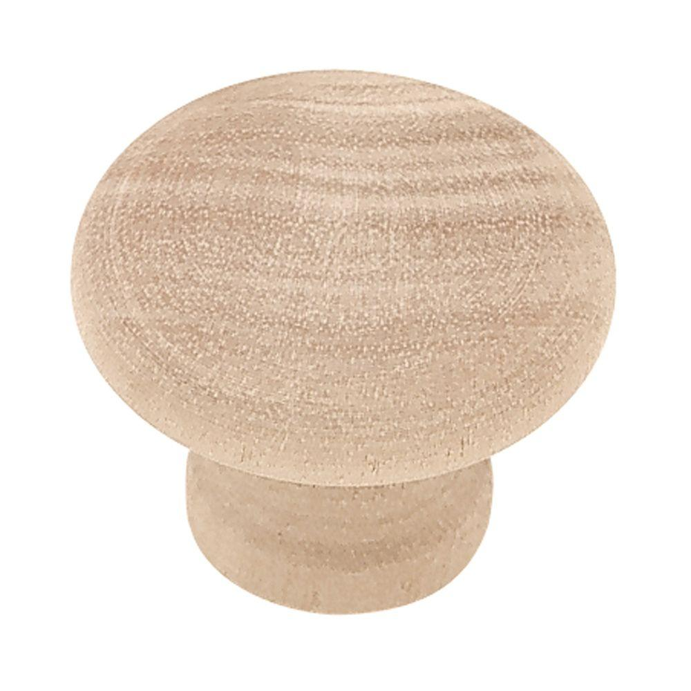 Birch Rowland Wood Cabinet Knob