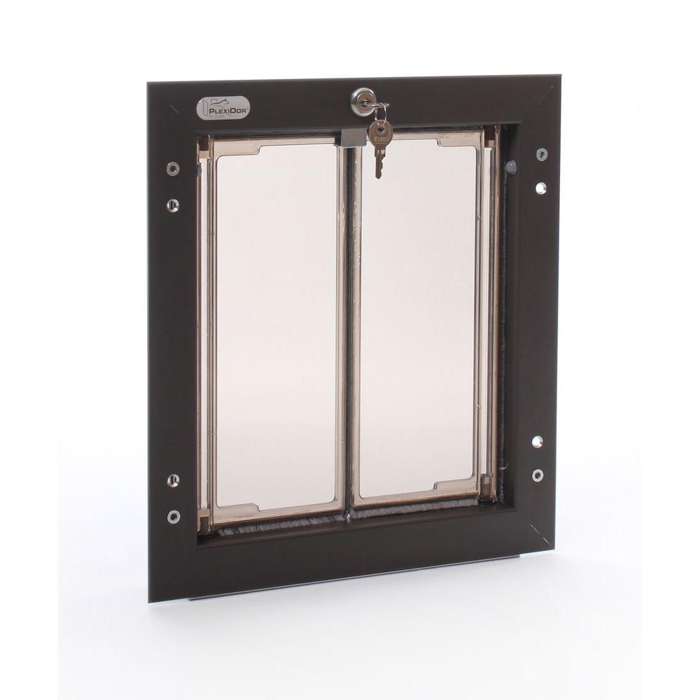 PlexiDor Performance Pet Doors 9 in. x 12 in. Wall Mount Bronze Medium Dog Door