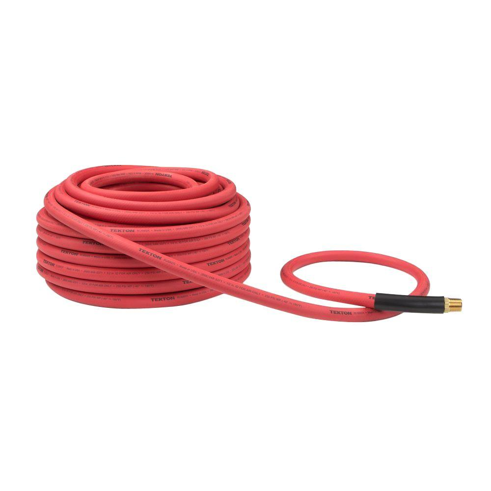 100 ft. x 1/2 in. I.D. Rubber Air Hose (250 PSI)