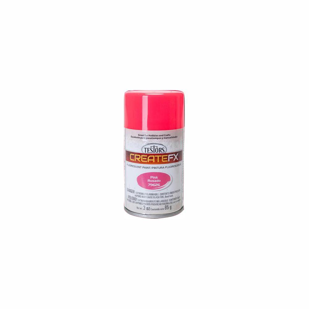 Testors CreateFX 3 oz  Fluorescent Pink Spray Paint (3-Pack)