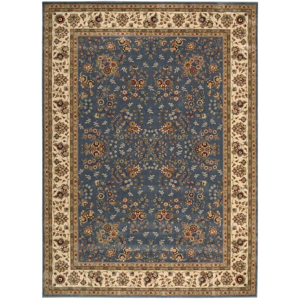 Persian Arts Light Blue 8 ft. x 11 ft. Area Rug