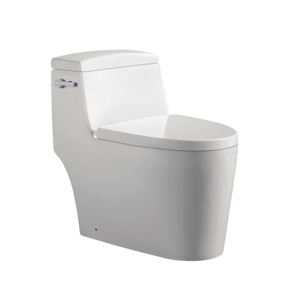 Joelle 1-Piece 0.88/1.2 GPF Dual Flush Elongated Toilet in White