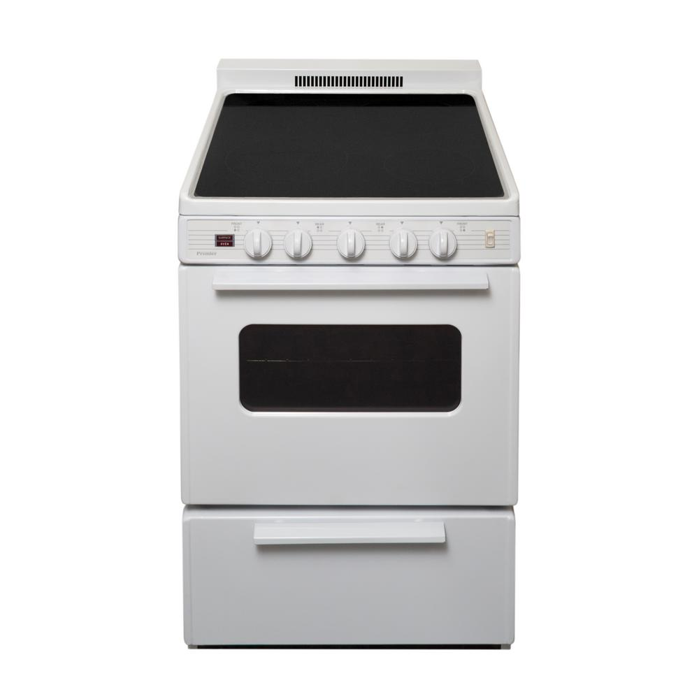 Freestanding Smooth Top Electric Range In White