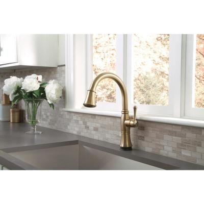 Cassidy Touch Single-Handle Pull-Down Sprayer Kitchen Faucet in Champagne Bronze