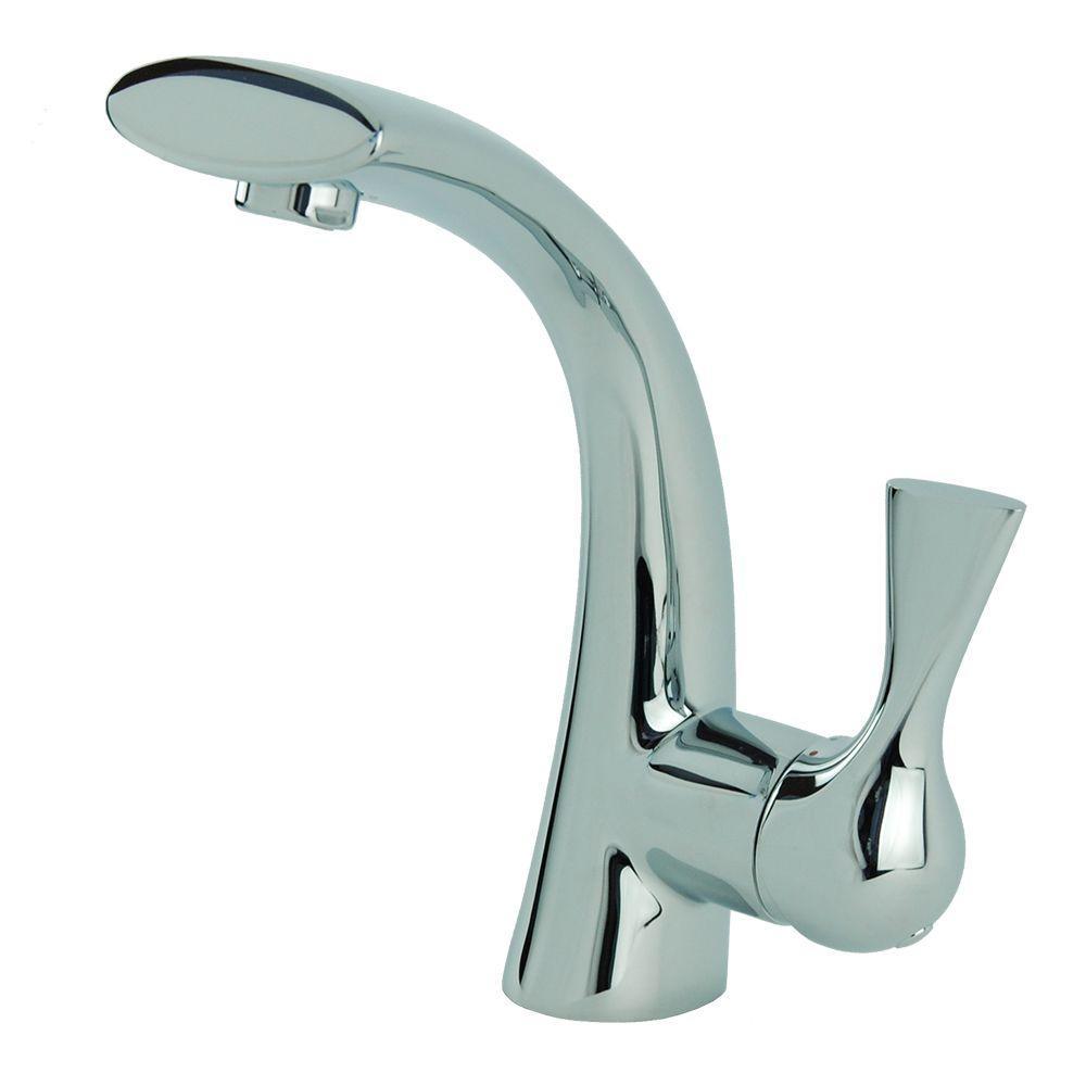 Adelais Single Hole Single-Handle High-Arc Bathroom Faucet in Chrome