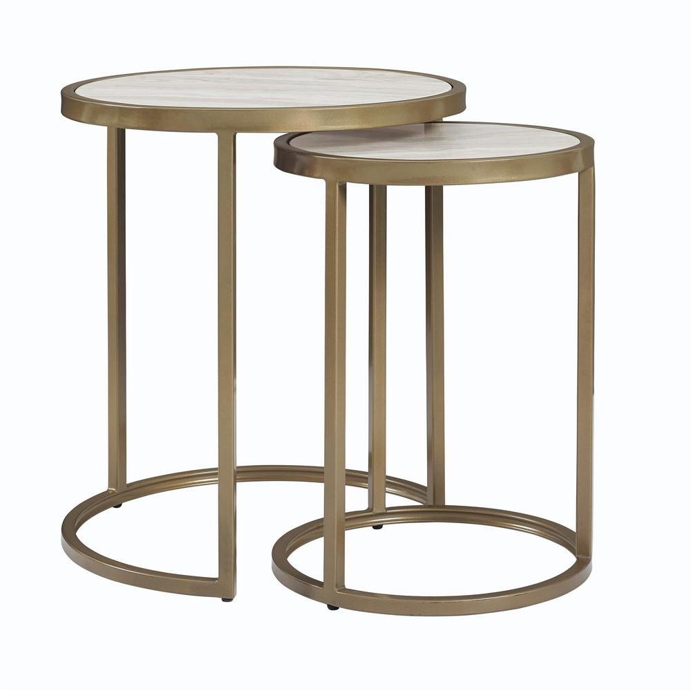 Terra Brass Nesting Tables