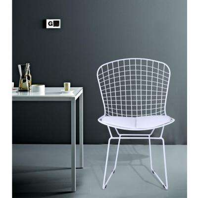 White Wire White Side Chair