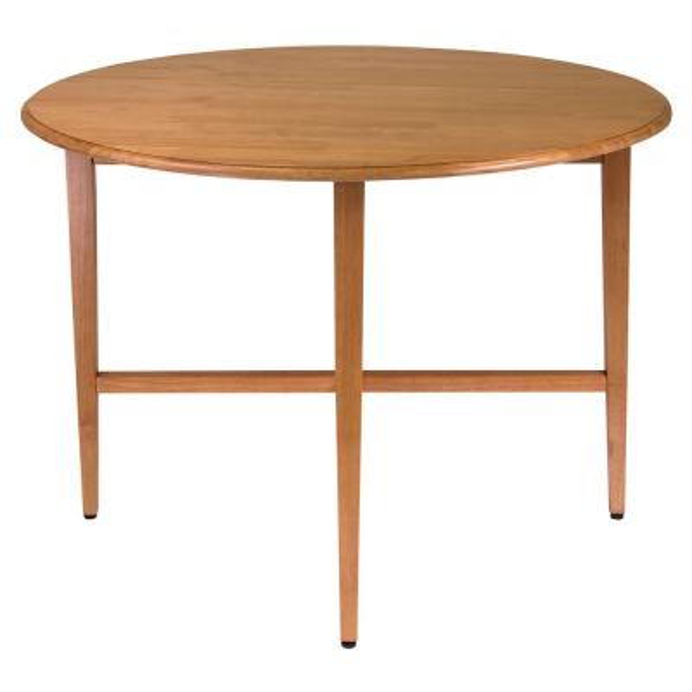 Hannah 42 in. Light Oak Round Double Drop Leaf Gate leg Table