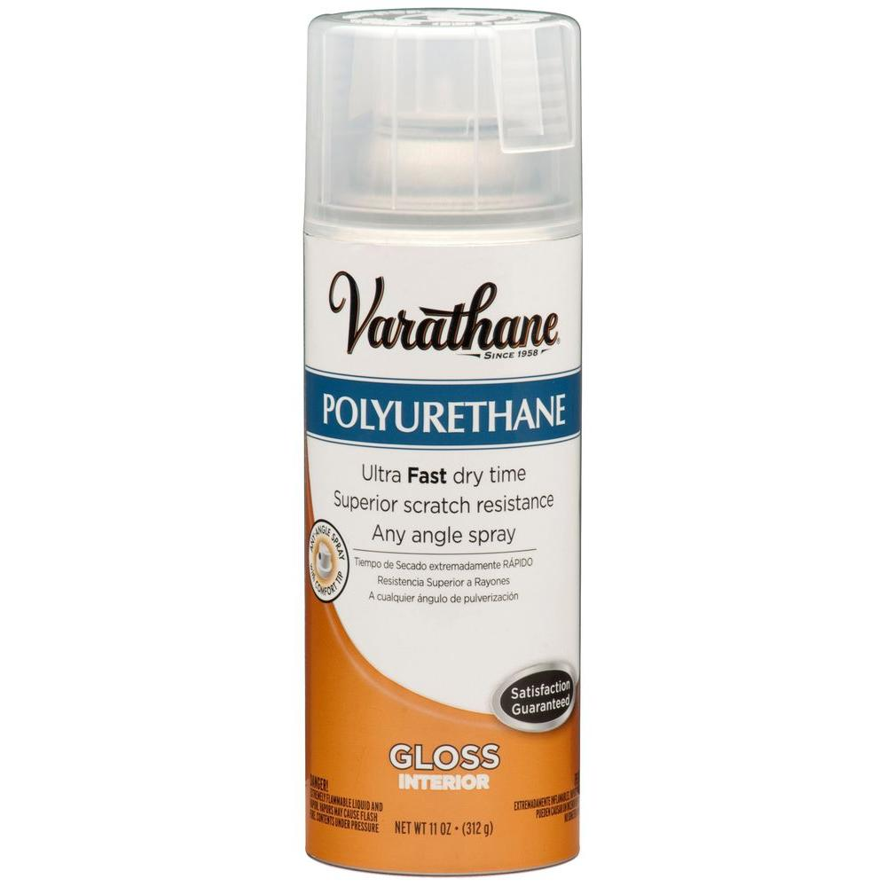 varathane 11 oz poly gloss spray paint 6 pack 266236. Black Bedroom Furniture Sets. Home Design Ideas