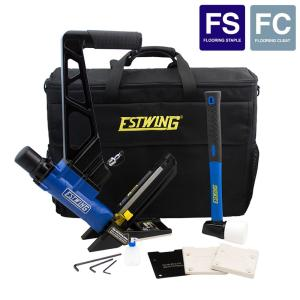 Estwing Pneumatic 2-in-1 16-Gauge L Cleat or 15.5-Gauge Flooring Nailer/Stapler with Fiberglass Mallet and... by Estwing