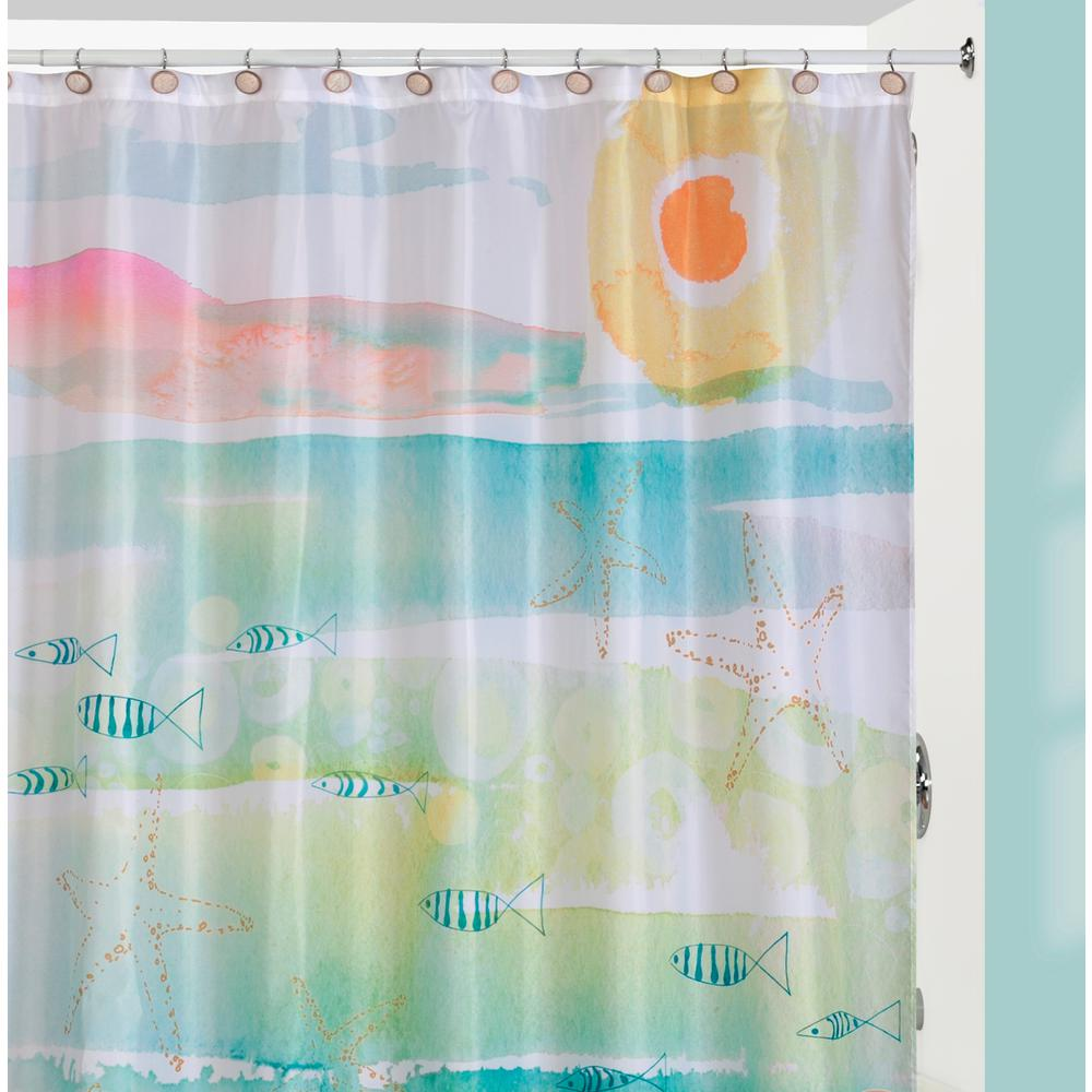 By The Sea Beach Themed Shower Curtain Hooks Rug Set
