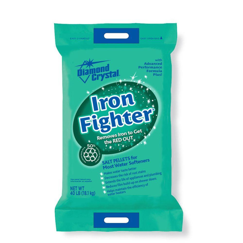 Diamond Crystal Iron Fighter Salt Pellets Home Depot