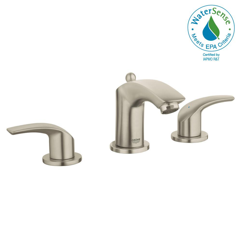 Grohe Eurosmart 8 In Widespread 2 Handle 1 2 Gpm Bathroom Faucet In