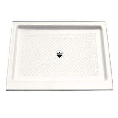 Kathryn 48 in. x 36 in. Single Threshold Shower Base in White