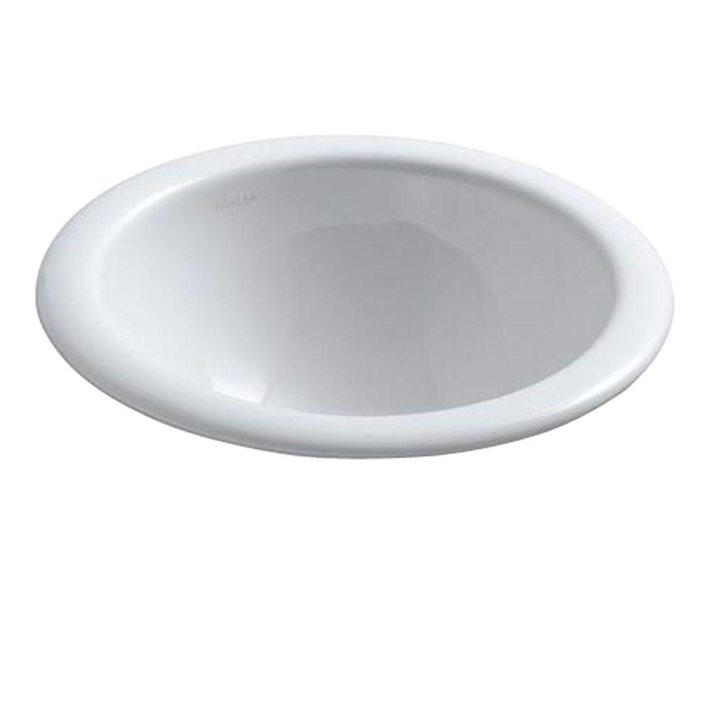 KOHLER Compass Drop-In Vitreous China Bathroom Sink in White