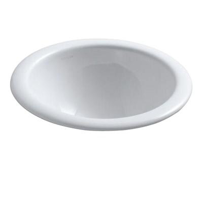 Compass Drop-In Vitreous China Bathroom Sink in White
