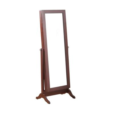 Cherry Sliding Jewelry Armoire with Mirror