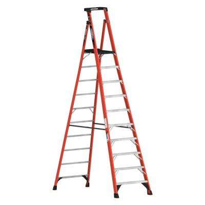 16 ft. Reach Fiberglass Podium Ladder with 300 lb. Load Capacity Type IA Duty Rating (Comparable to 12 ft. Stepladder)
