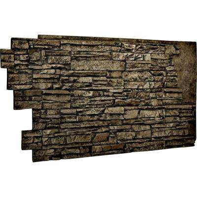 1-1/2 in. x 48 in. x 25 in. Grey Urethane Stacked Stone Wall Panel