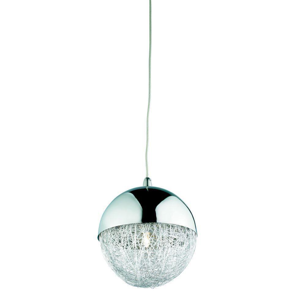 Sonnet Collection 1-Light Chrome Hanging Mini Pendant