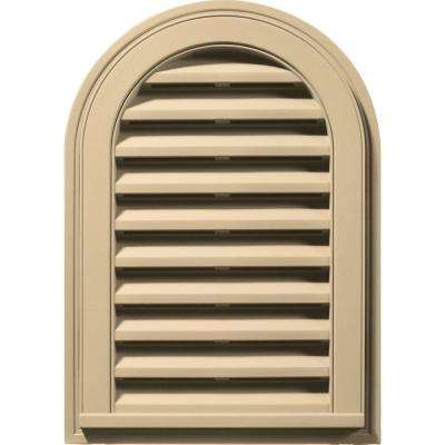 14 in. x 22 in. Round Top Gable Vent in Dark Almond