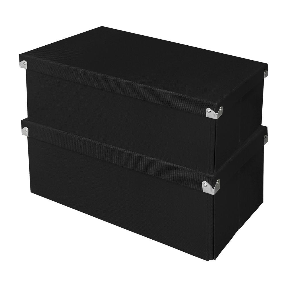 Samsill Pop Nu0027 Store Essential Box In Black (2 Pack)