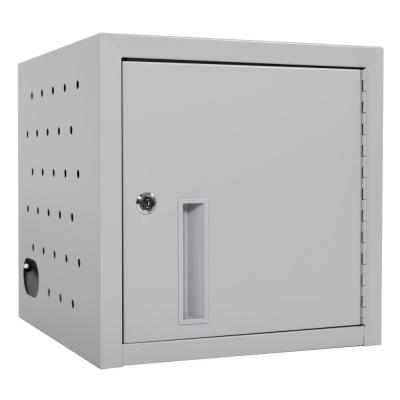 14 in. x 14 in. 8 Capacity Tablet Wall Charging Box in Gray
