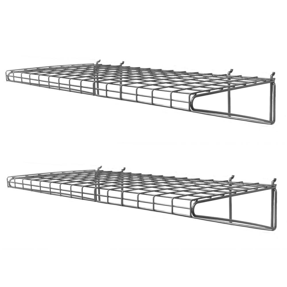 Slatwall 24 in. Metal Shelf (2-Pack)
