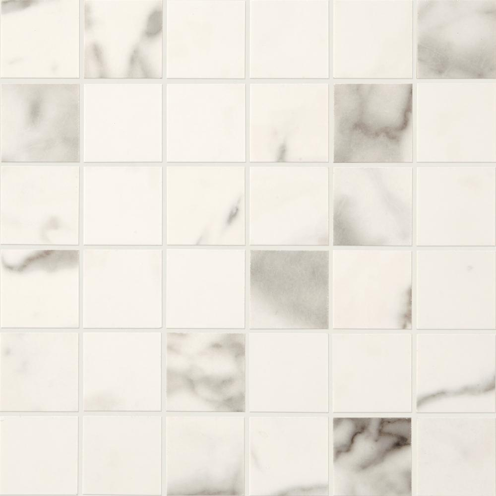 Marble View Calacatta Matte 12 in. x 12 in. x 9.5mm
