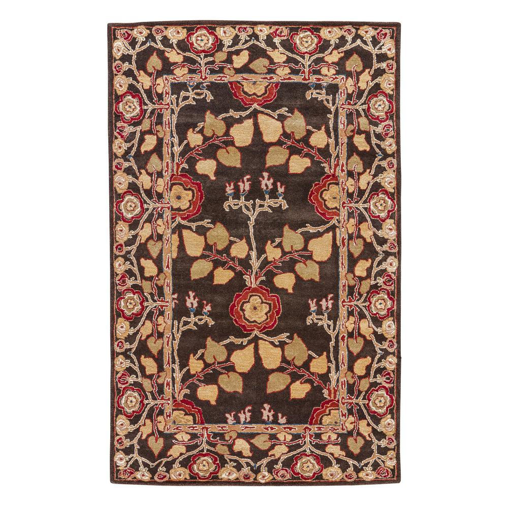 Jaipur Rugs Coffee Bean 10 ft. x 14 ft. Floral Area Rug