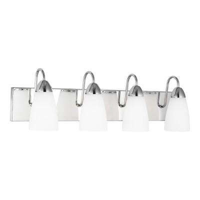 Seville 28.38 in. 4-Light Chrome Vanity Light