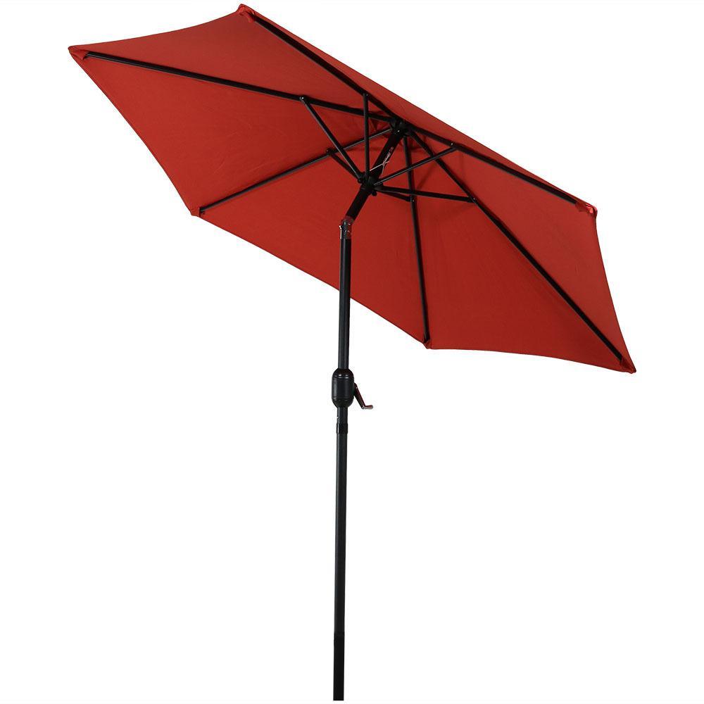 7.5 ft. Aluminum Market Tilt Patio Umbrella in Burnt Orange