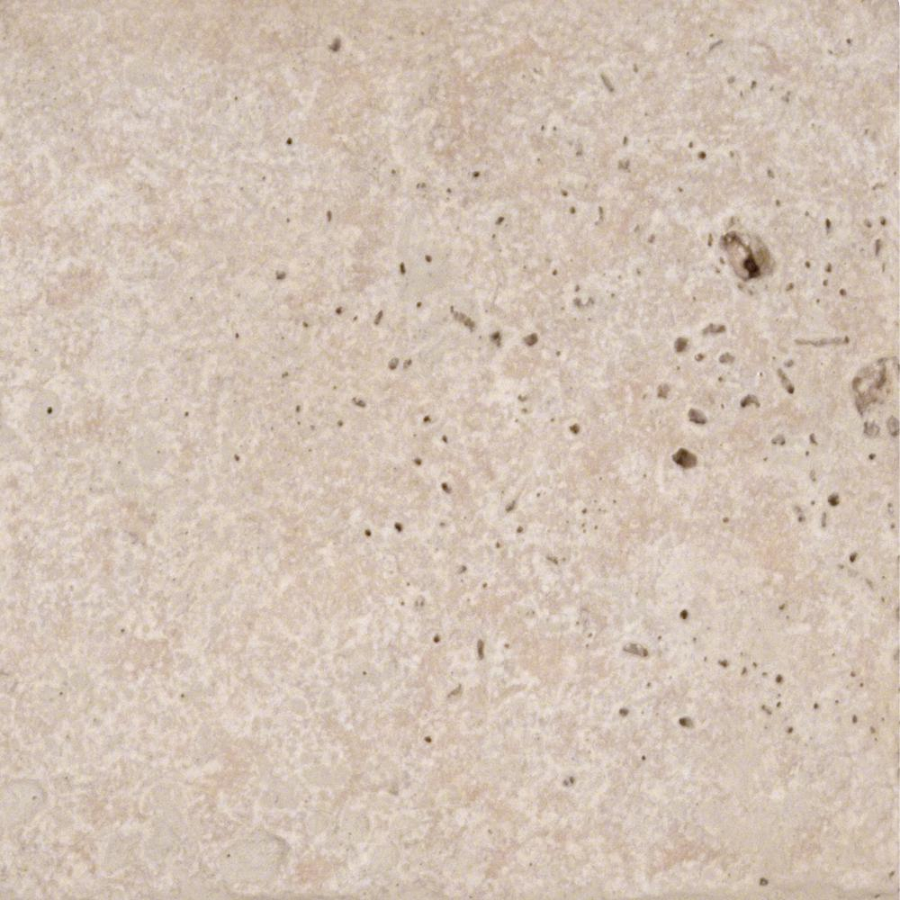 Chiaro 6 in. x 6 in. Tumbled Travertine Floor and Wall