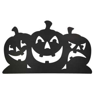 40 in. Black Pumpkin Silhouettes Lawn Decoration