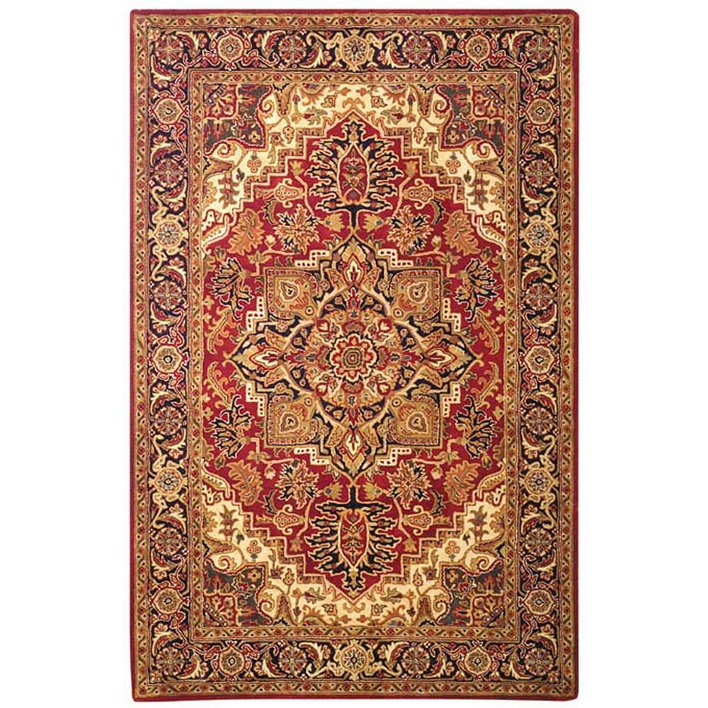 Safavieh Classic Red/Navy 8 ft. x 10 ft. Area Rug