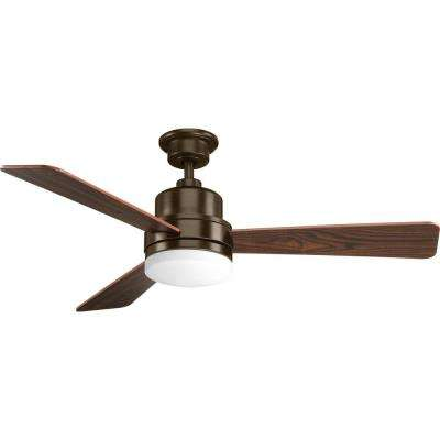 Trevina Collection Antique Bronze 52 in. Ceiling Fan with Light Kit