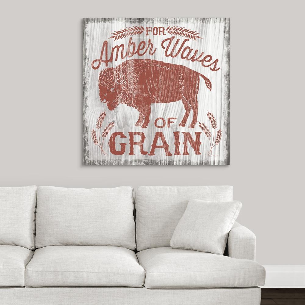 GreatBigCanvas ''America the Beautiful II'' by Laura Marshall Canvas Wall Art
