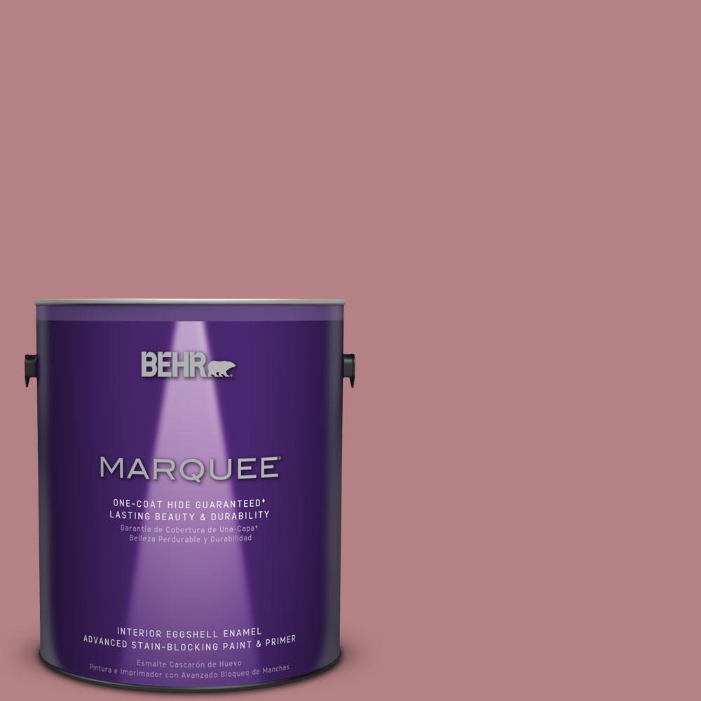 1 gal. #T14-15 Minuet Rose Eggshell Enamel Interior Paint