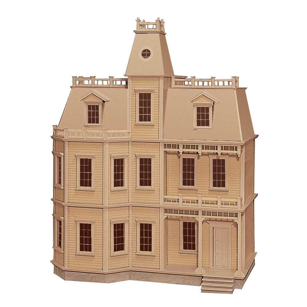 Victorias farmhouse dollhouse kit 94592 the home depot newport dollhouse kit solutioingenieria Choice Image