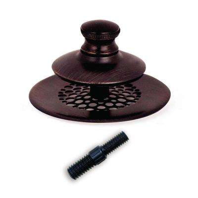 2.875 in. SimpliQuick Push Pull Bathtub Stopper, Grid Strainer and Composite Pin - Bronze