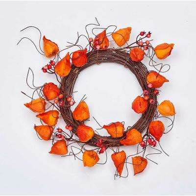 12 in. Chinese Lantern Wreath