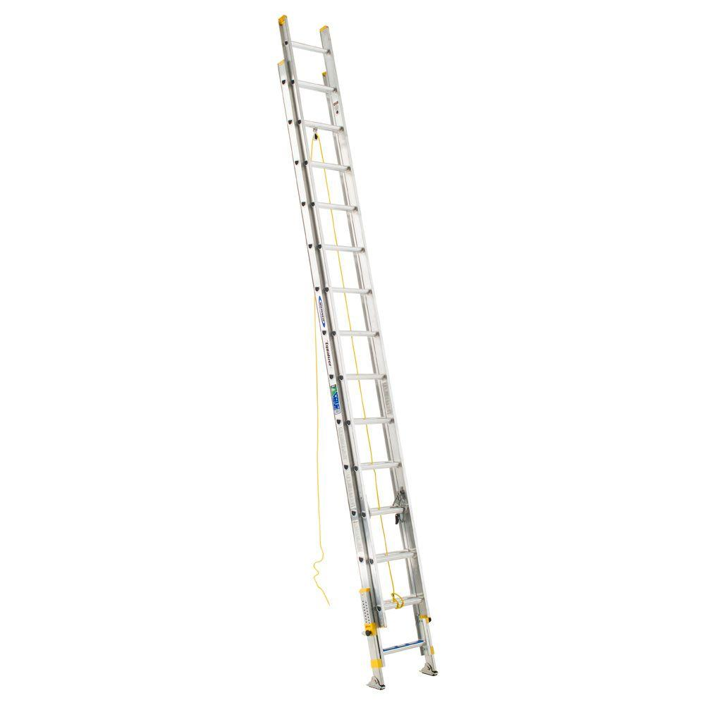 Werner 28 ft. Aluminum D-Rung Equalizer Extension Ladder with 250 lb. Load Capacity Type I Duty Rating