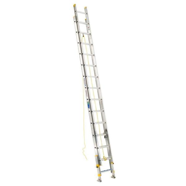 28 ft. Aluminum D-Rung Equalizer Extension Ladder with 250 lb. Load Capacity Type I Duty Rating
