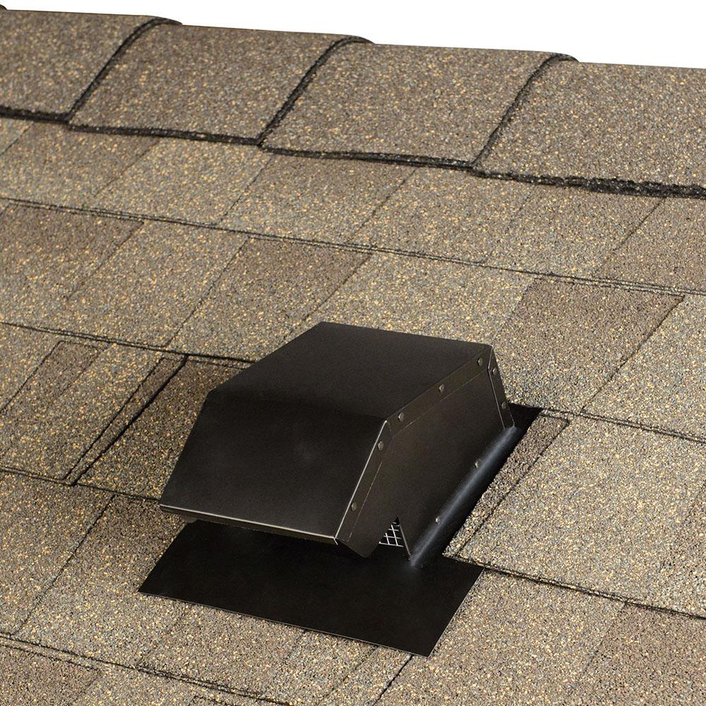 Master Flow 4 In Goose Neck Vent Roof Cap In Black Gnv4bl The Home Depot