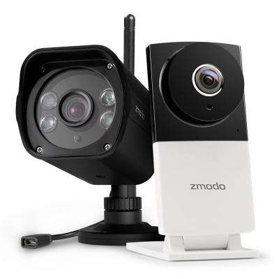 Sight 180C 1080p Wireless 180-Degree Indoor Camera with 1080p Wireless Outdoor Dual Band Surveillance Camera